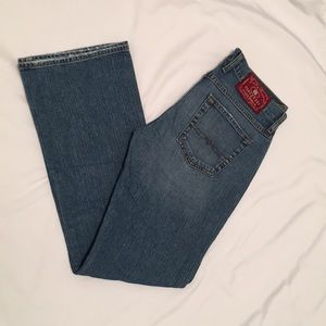 Lucky Brand Dungarees Midrise Flare Jeans size 29